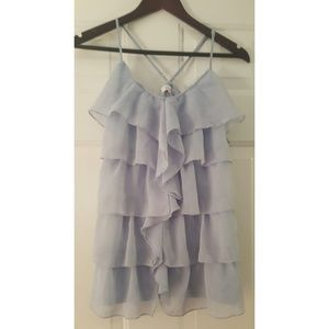 Candie's   Blue Ruffle Blouse
